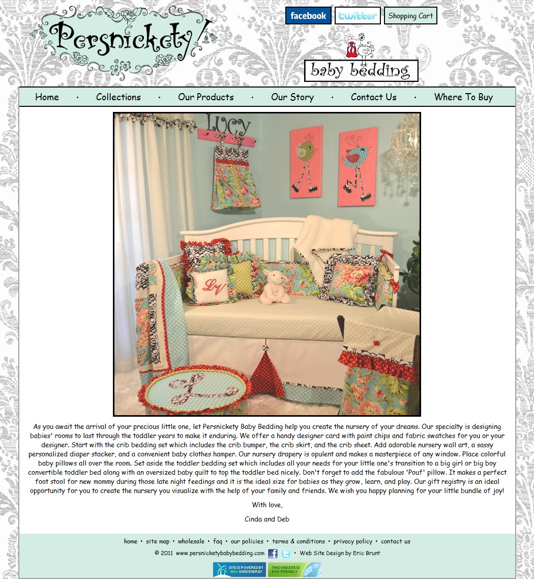 Persnickety Baby Bedding